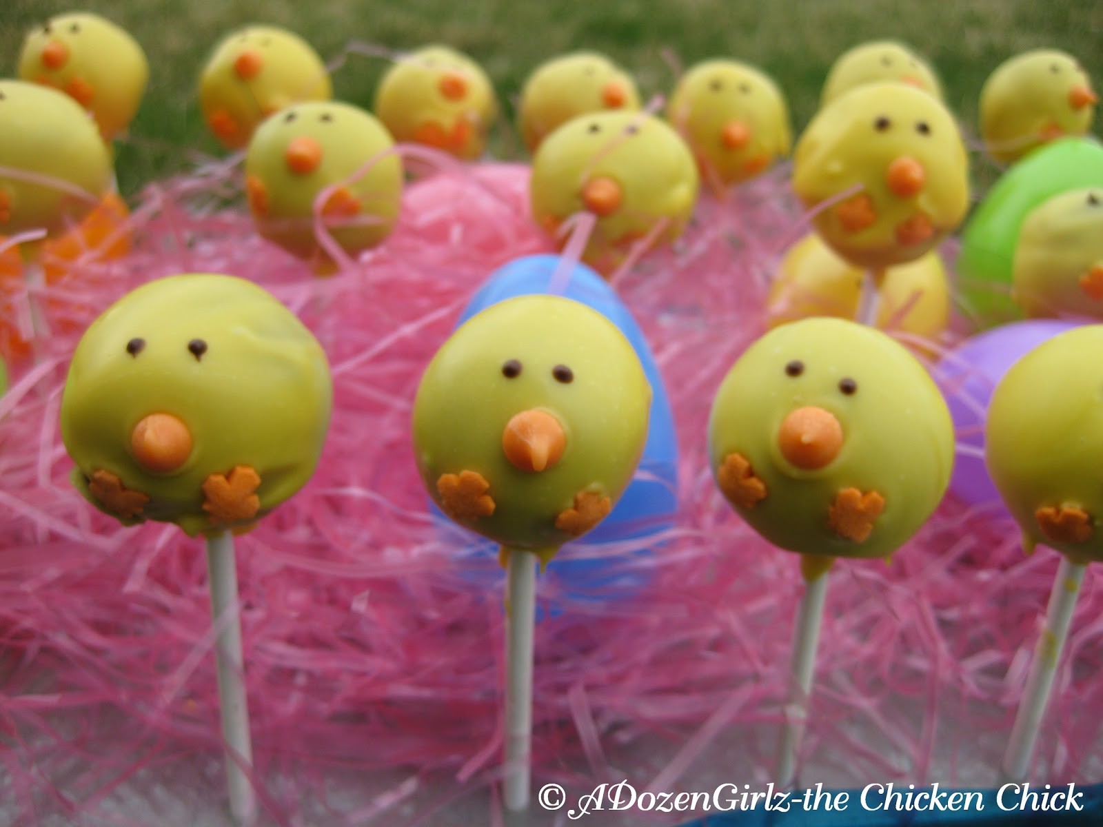 Chick Cake Pops Images : The Chicken Chick : Chick Cake Pops- DIY instructions
