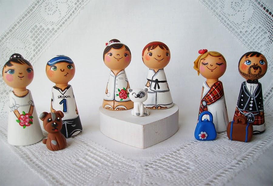 Personalizowane na zamówienie ręcznie malowane zdobione figurki ślubne figurka ozdoba na tort weselny ślubny tortu weselnego dekoracja tortu panna młoda pan młody nowożeńcy romantyczne eleganckie klasyczne tradycyjne na wesoło humorystyczne