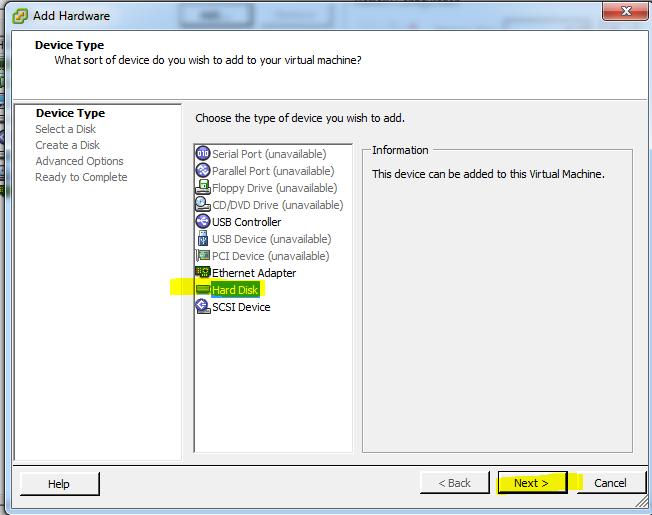 WhiteBoard Coder: ESXi 5 vSphere Ubuntu VM, adding a