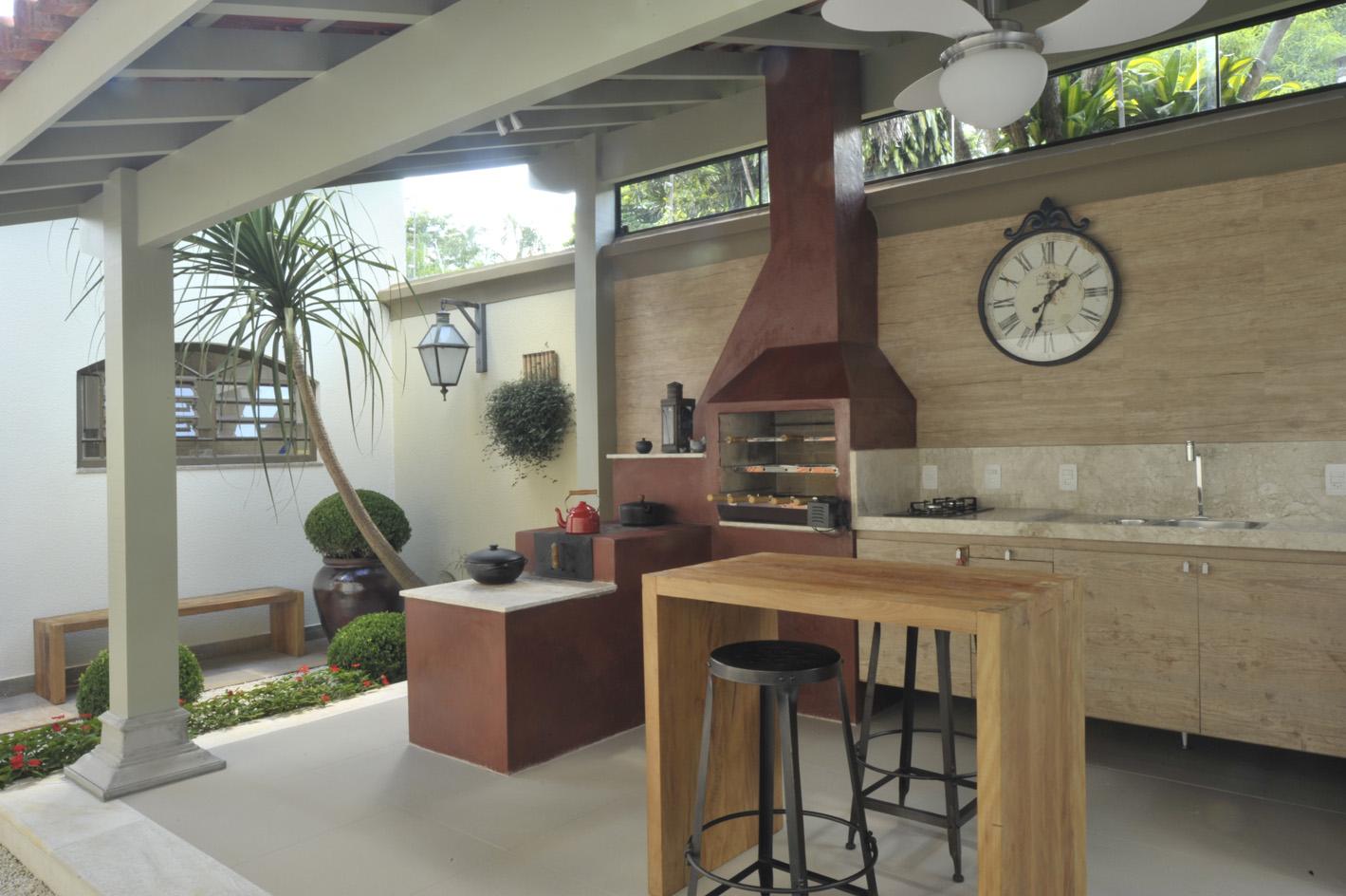 #836C48 Blog da Ayda: Uma boa ideia de cozinha gourmet 1419x944 px Projetos De Cozinhas Externas Pequenas #565 imagens