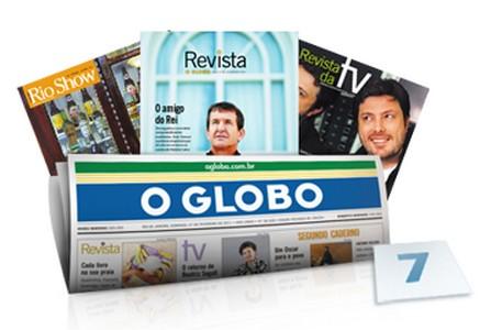 Brinde Gratis Jornal O Globo 7 edições Gratis