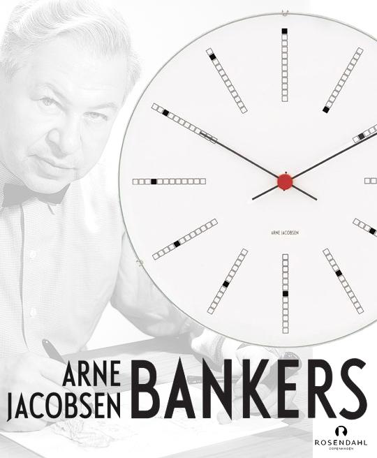 Väggur Arne Jacobsen Bankers 21 cm, Timepieces Rosendahl Copenhagen | www.var-dags-rum.se