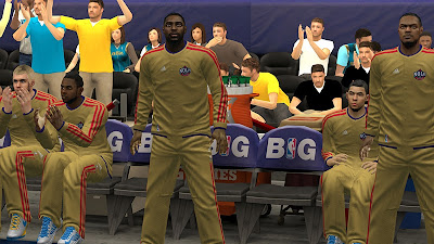 NBA 2K13 NOLA Pelicans Gold Warmup Uniforms