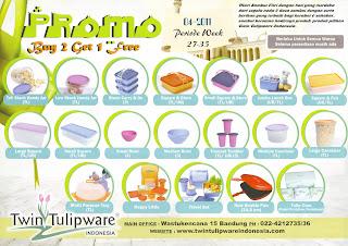 Promo Tulipware Buy 2 Get 1 Free Juli - Agustus 2011