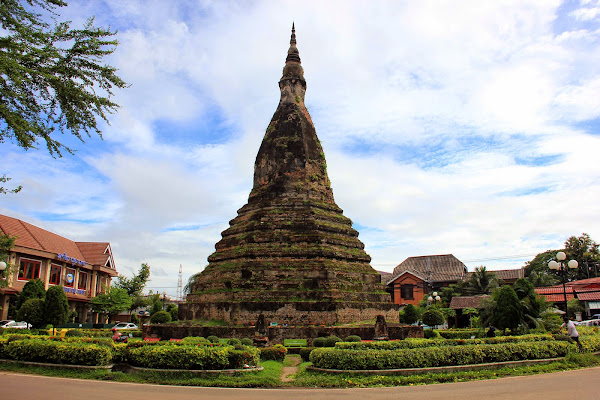 That Dam Black Stupa in Vientiane