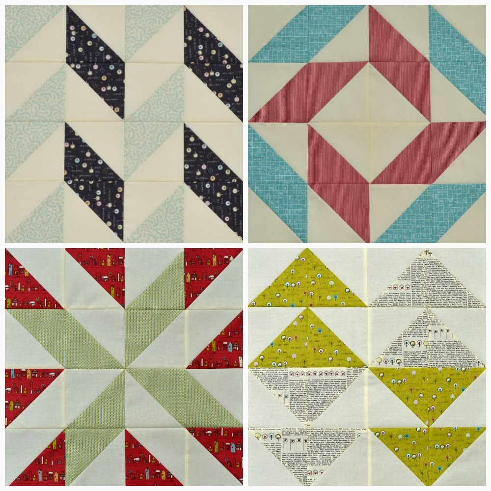 layer cake sampler blocks one to four collage