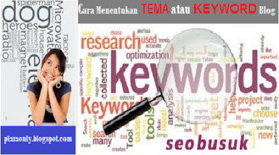 Cara Menentukan TEMA atau KEYWORD Blog