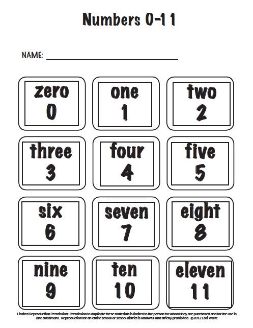 teaching numbers: