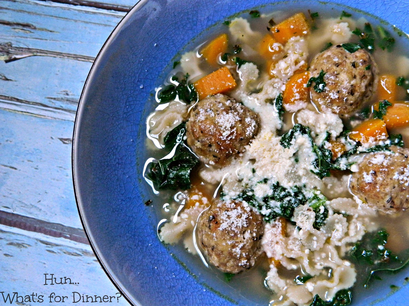 Tender chicken meatballs are the star in this traditional Italian soup by Hun... What's for Dinner?