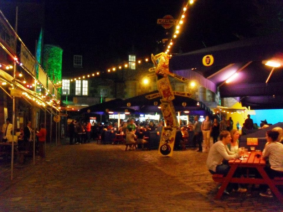 Pleasance Courtyard at Edinburgh Fringe Festival