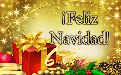 postal de navidad con imagen de regalos