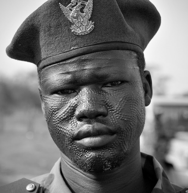 Nuer Tribe Scarification Rite