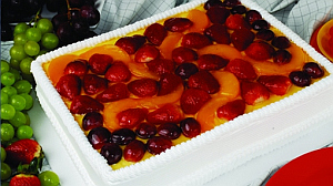 Fruta a la crema