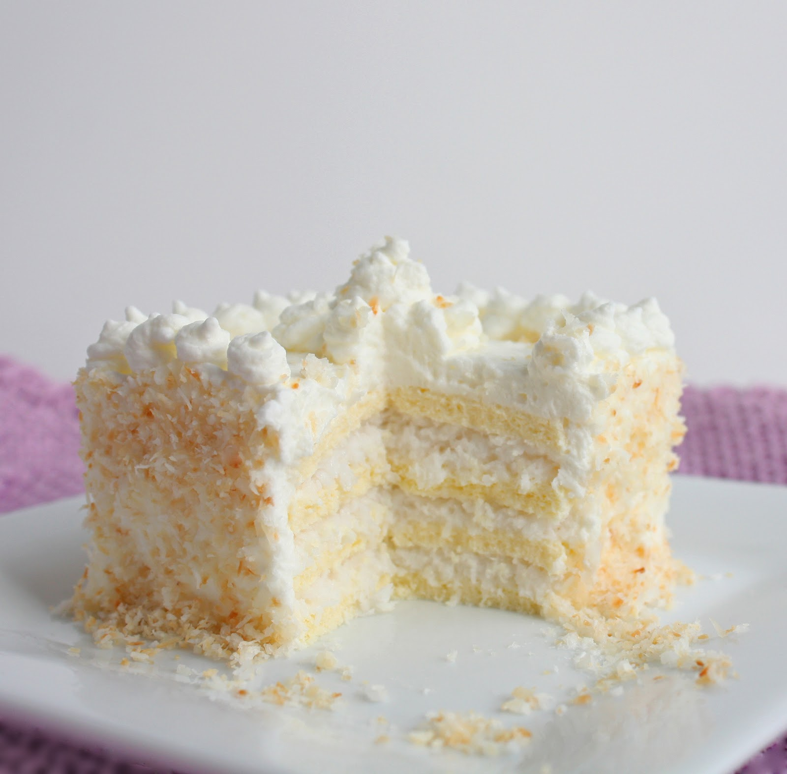 Low Calorie Coconut Cake Recipe