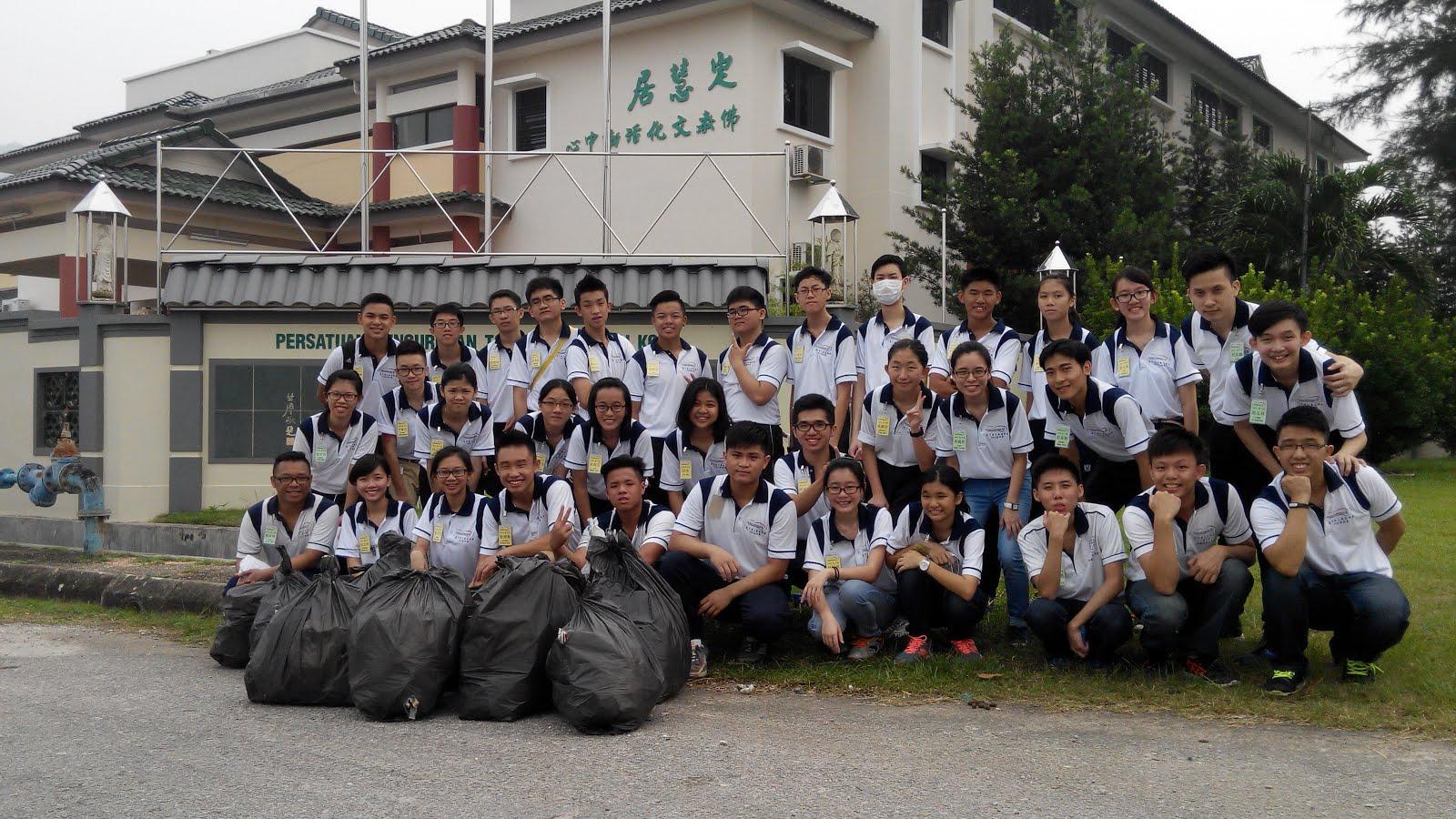 卓越青年社区服务-安邦新村捡垃圾2015