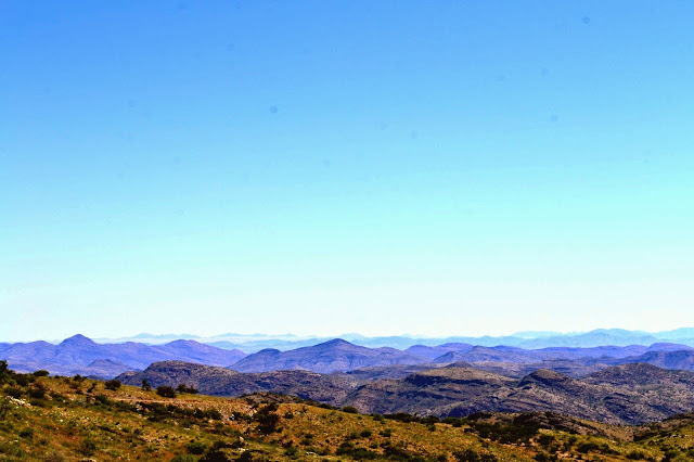 View of mountains in Namibia