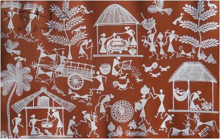 Vrksa Arts Crafts Warli Street Indian Tribal Art