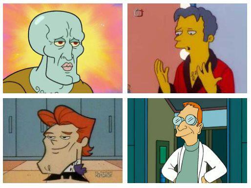 las personas bonitas, atractivas, lindas son las más inteligentes segun estudio, calamardo bello, dexter moe profesor Hubert J. Farnsworth