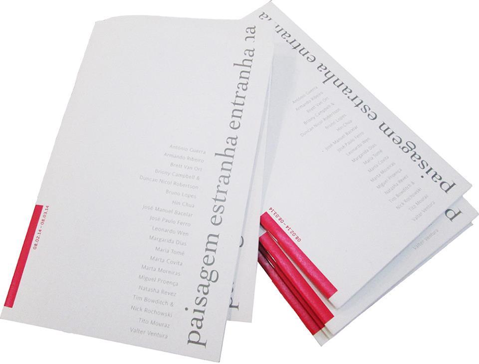 paisagem estranha entranha, booklet, 2014, catalogue, Oporto, Patrícia Proença Design