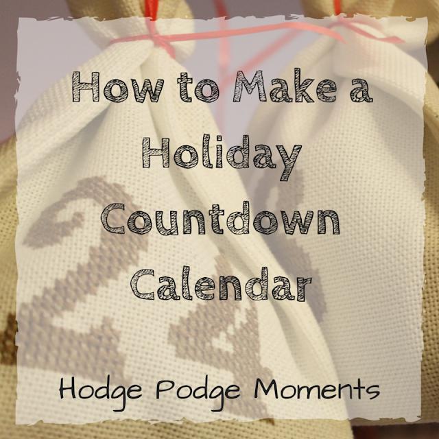 How to Make a Holiday Countdown Calendar