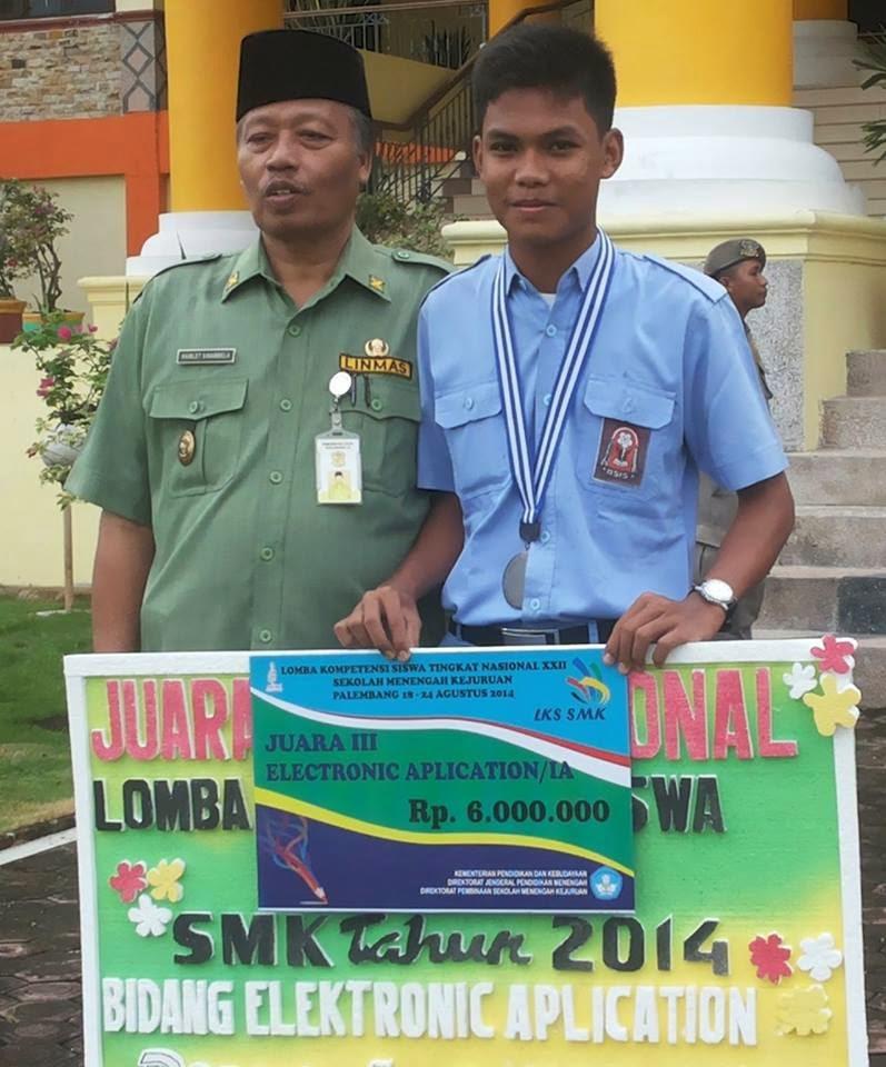Siswa SMKN2 Juara 3 LKS Tingkat Nasional Palembang