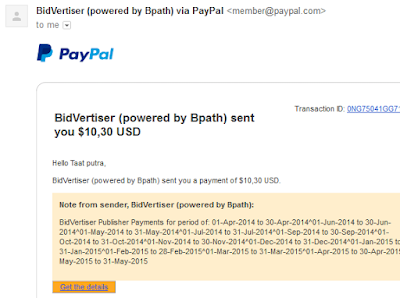 bukti screnshoot ppc bidvertiser, best top ppc pay per click adsense, ppc terbaik pengganti adsense, dibayar bila ada klik iklan popads juga suport ,textlink payout