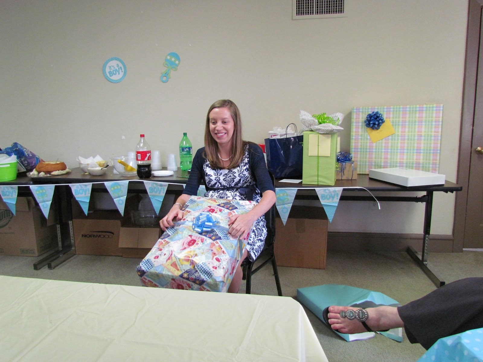 something to gab about 35 weeks and work baby shower