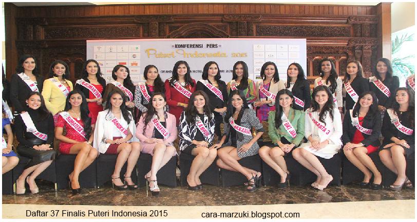 Daftar 37 Finalis Puteri Indonesia 2015