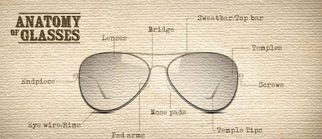 Glasses Frames Anatomy : THE EYEDICT: THE ANATOMY OF GLASSES