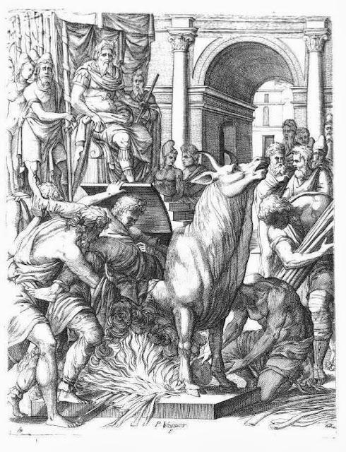 Execution, Phalaris, Perillos, Cruelty, Sicily,