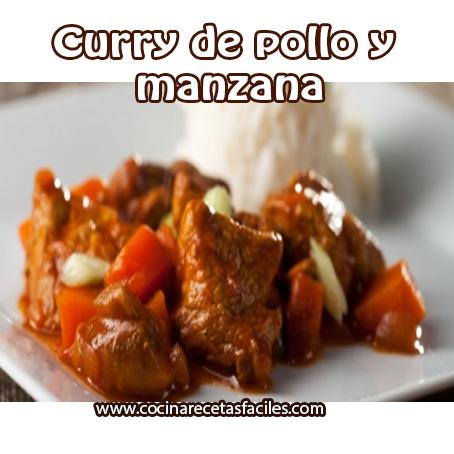 Recetas de pollo,  receta de curry de pollo y manzana,