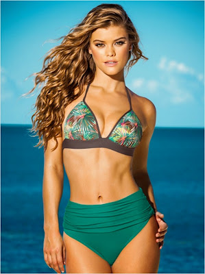 Nina Agdal hot pose model in sexy bikini body for Leonisa sexy swimwear new collection
