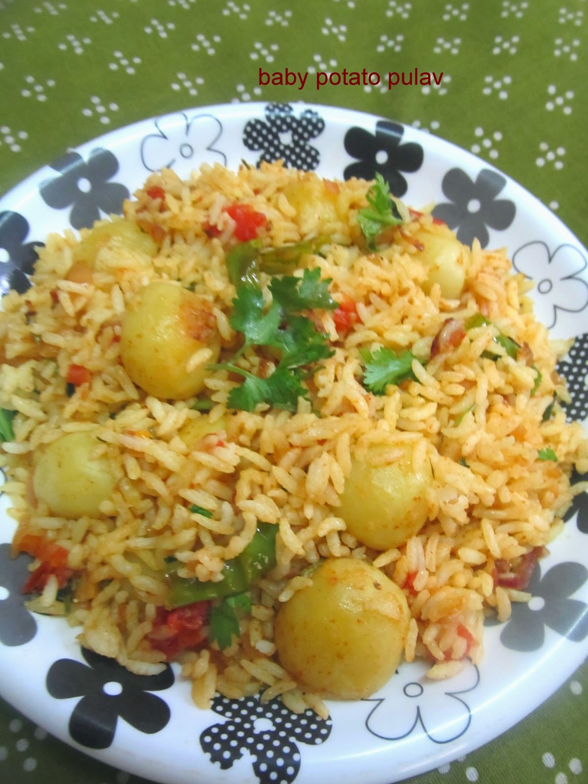 baby potato pulao