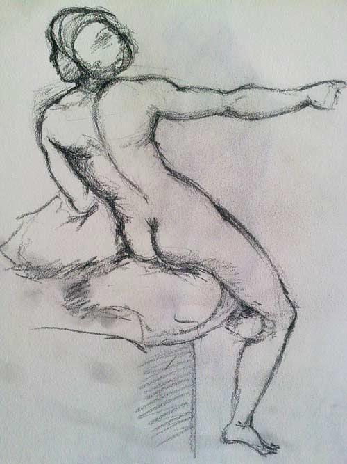copia de un desnudo femenino de Rafael sanzio