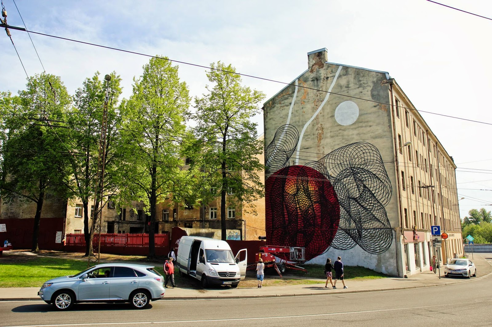 Moneyless recently stopped by Eastern Europe to paint this beautiful new piece on the streets of Riga in Latvia.