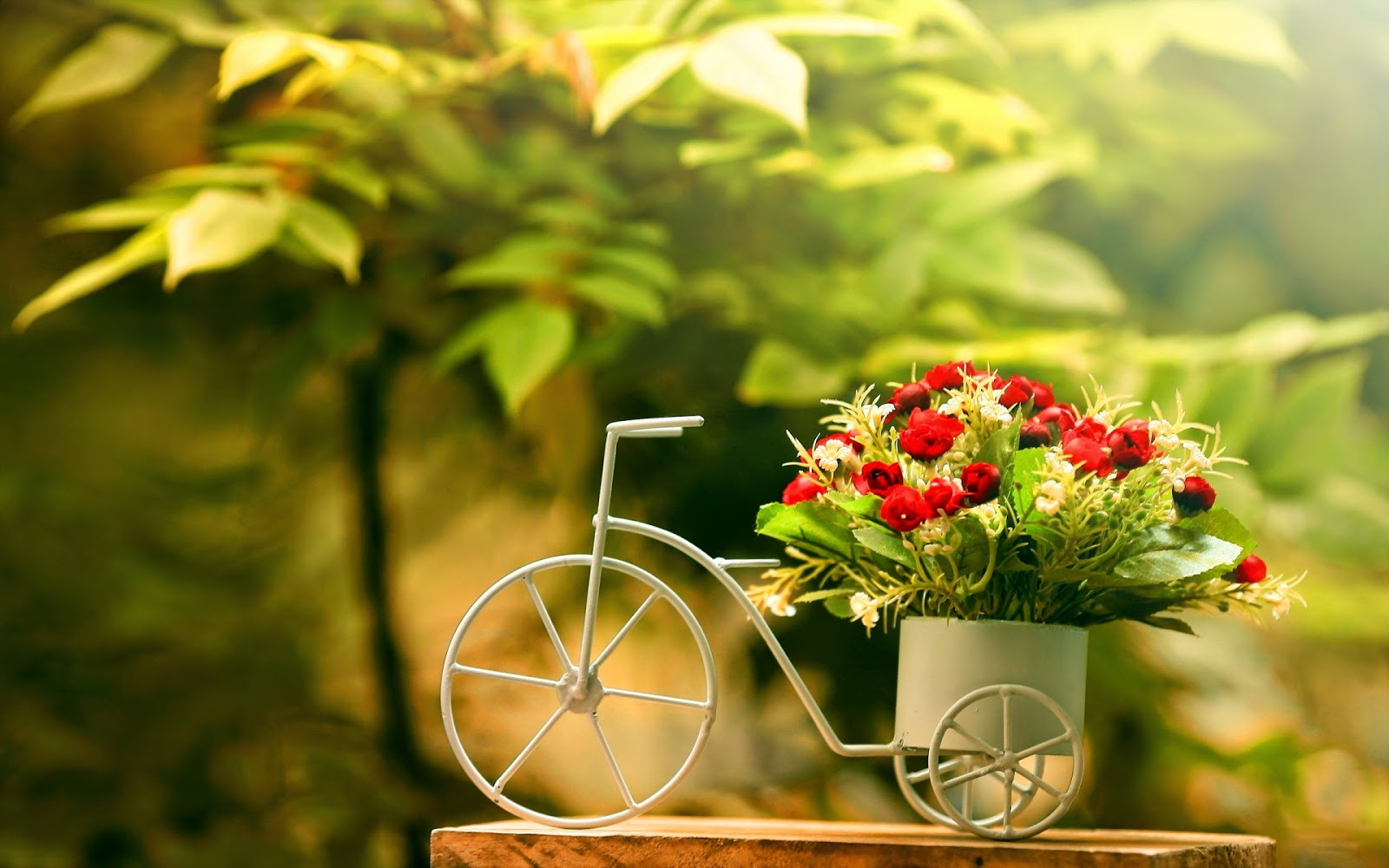 bicycles with flowers wallpaper - photo #29