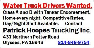 Water Truck Drivers Wanted