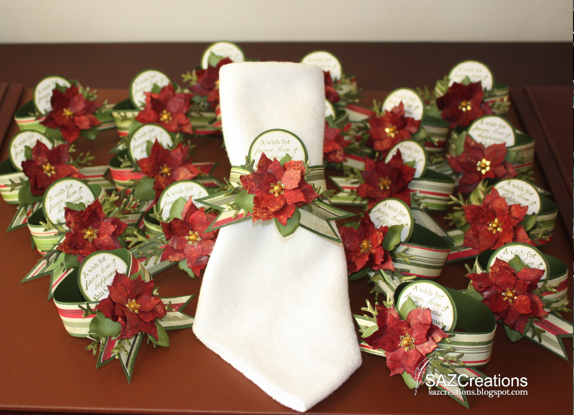 Poinsettia Napkin Rings Table Settingsbuffet Decorating