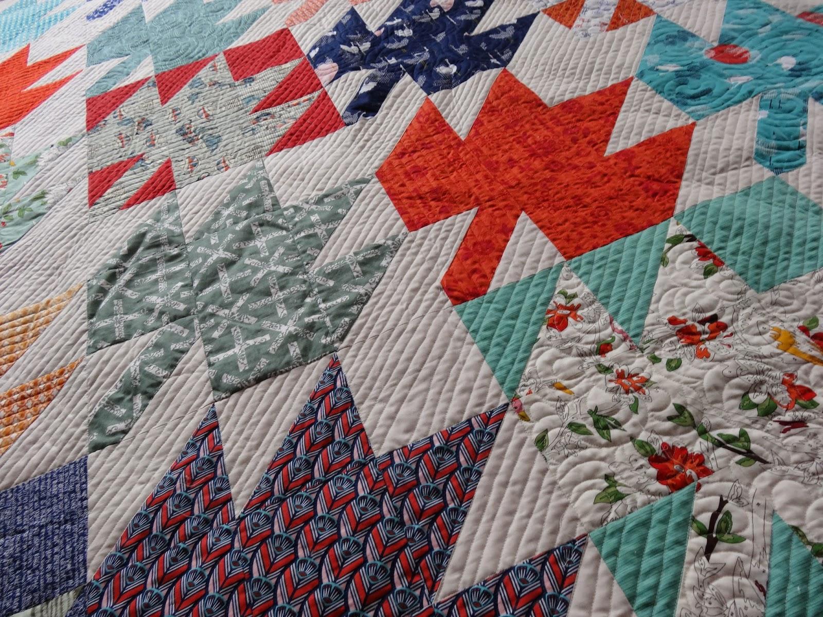 Garden Leaf Blocks : Elven garden quilts maple leaf quilt finished