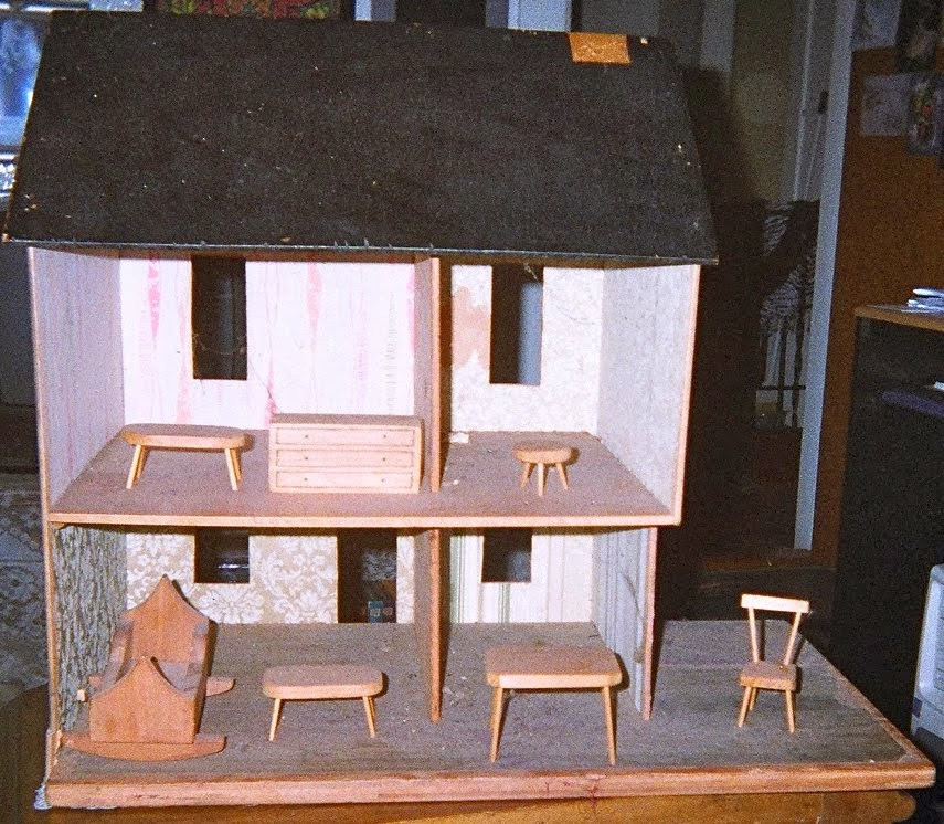 Doll House, inside view with furniture