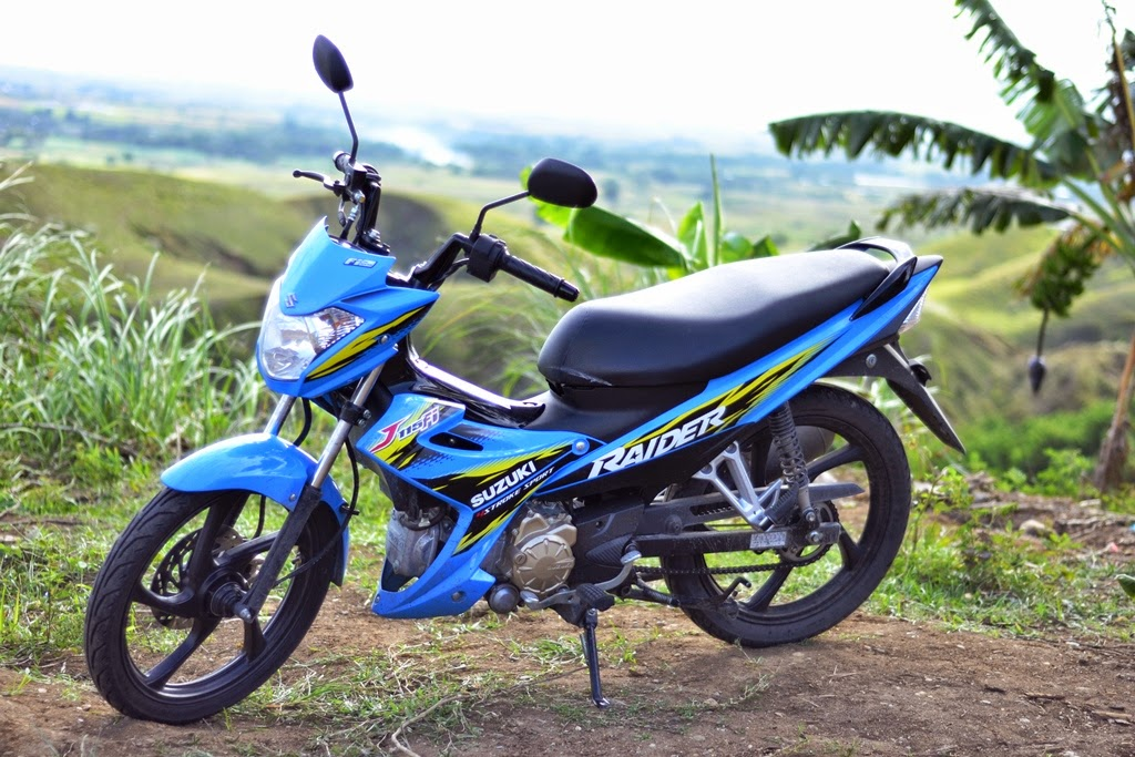 Trail and Urban Rider - Telly Buhay: Rizla+ Blue Suzuki Raider J 115