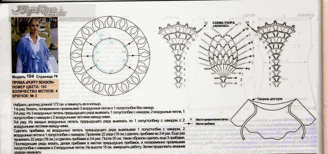 Moderno Patrón Chaleco Círculo Crochet Motivo - Manta de Tejer ...