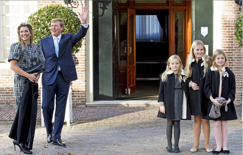 Prince Maurits and Princess Marilene with their children Anna, Lucas and Felicia The Netherlands