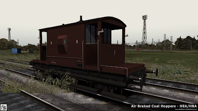 Fastline Simulation - Bonus Stock: A recently repainted dia 1/506 BR 20T brake van from lot 3129 built at Darlington in 1958 and currently unbraked. This version is one of a number of 20T brake vans included in our HBA/HEA hopper wagon expansion pack for Train Simulator 2014 to help add variety and authenticity to the scenarios in the pack.