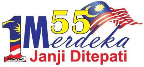 gambar makna logo kemerdekaan malaysia ke 55 2012