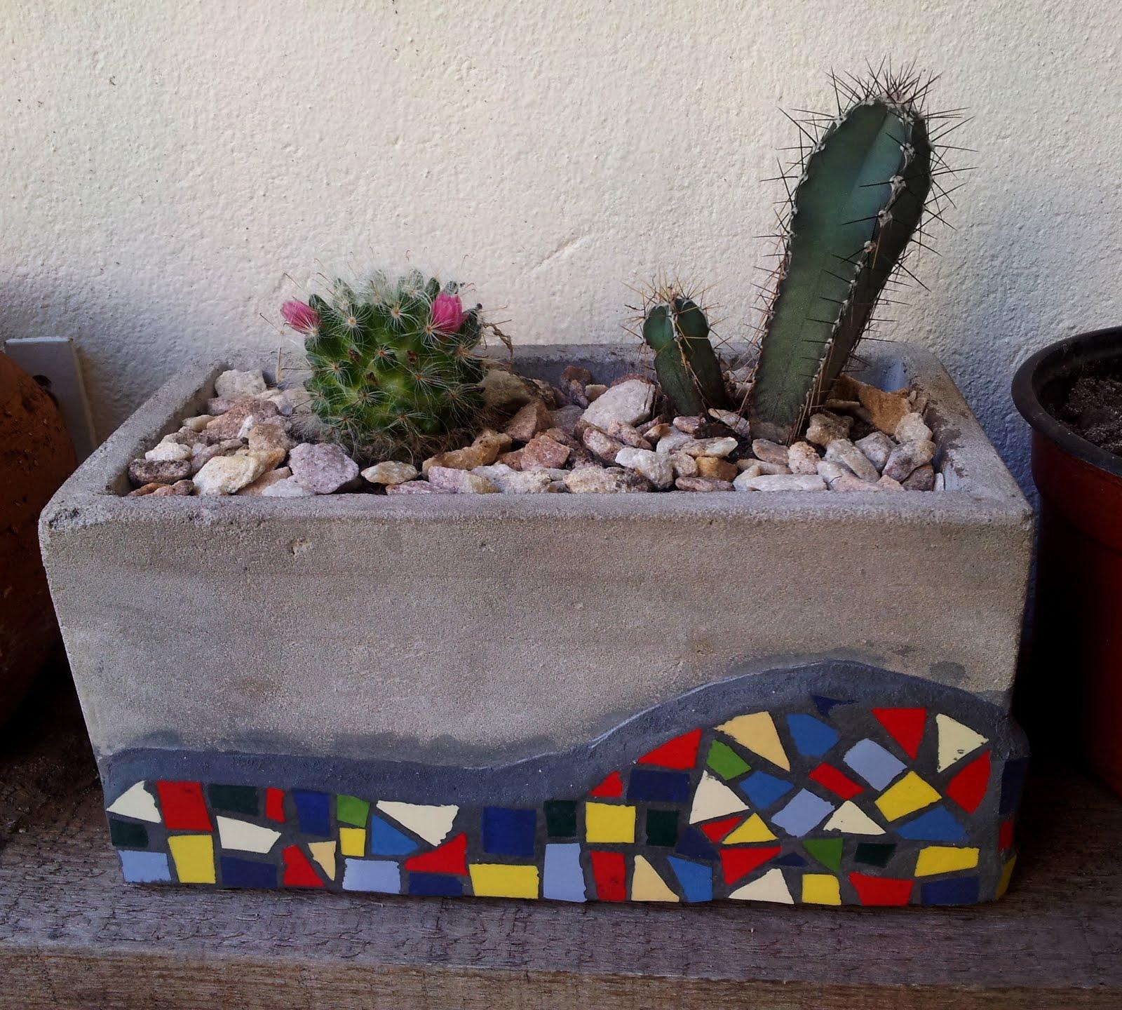G v mosaicos maceta para cactus for Dibujos para mosaiquismo