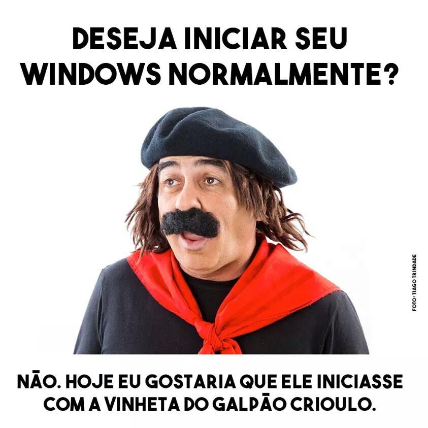 deseja iniciar seu windows normalmente