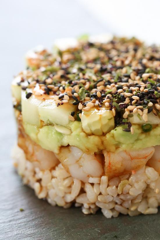 Spicy California Shrimp Stack | Skinnytaste | Information Society