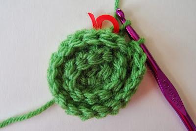 free crochet pattern no sew rosette round 7