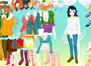 Winter doll jackets dress up